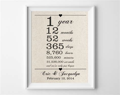 Wedding Anniversary Gift For A Husband by 1st Anniversary Gift For Husband One 1 Year Wedding