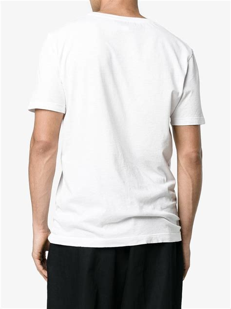 Gucci List Shirt lyst gucci logo t shirt in white for