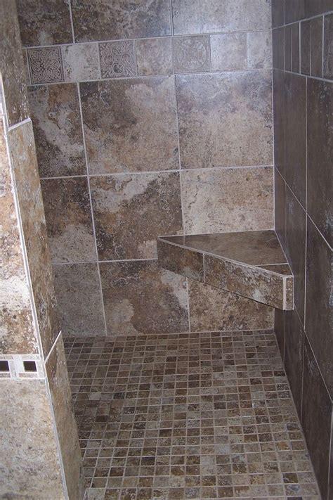 tile seat in shower walk in shower including mount wall corner shower