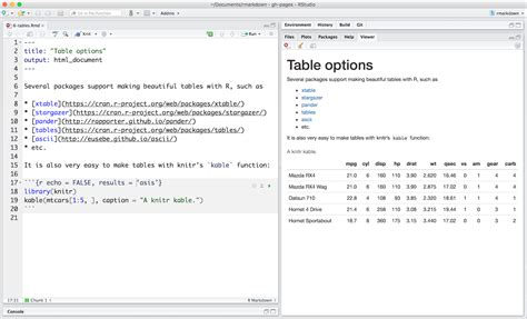 Markdown Table by Tables
