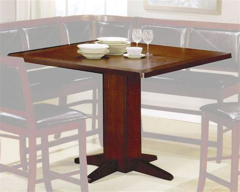contemporary counter height dining table in brown