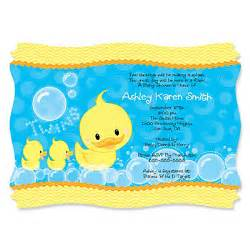 ducky ducks personalized baby shower invitations bigdotofhappiness