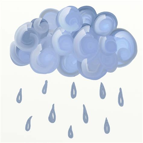 Rainy Awan cloud clipart free stock photo domain pictures