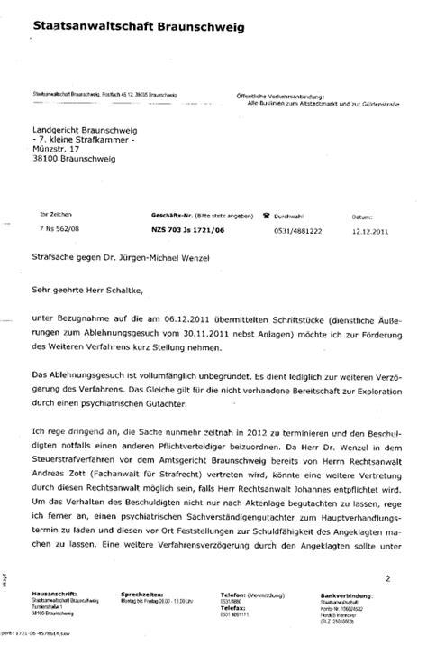 Schreiben An Staatsanwaltschaft Muster Schreiben Des Neonazi Und Stasi Staatsanwalt Brunke Staatsanwaltschaft Braunschweig