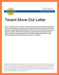 6 sle letter of moving out of apartment notice