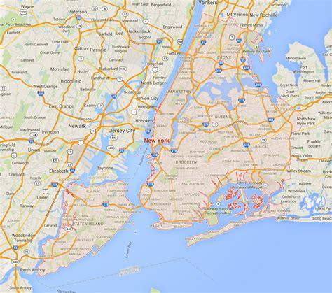 new york on map of usa new york city new york map