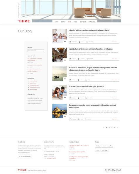 theme forest list thine responsive modern html template by uxbarn