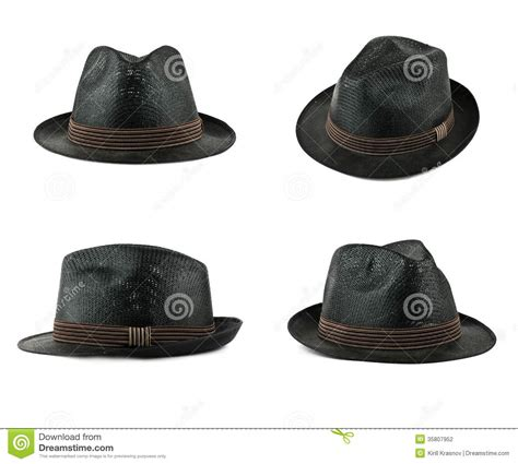 Set Black Hat Set Of Black Hats Stock Photography Image 35807952
