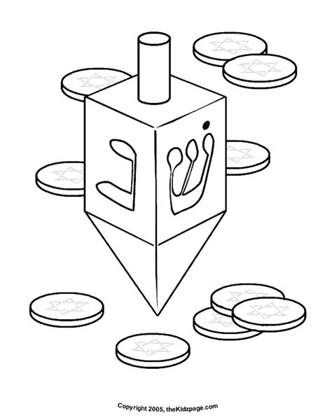 hanukkah printable coloring pages