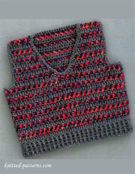 free baby vest knitting pattern baby boy vest crochet pattern free