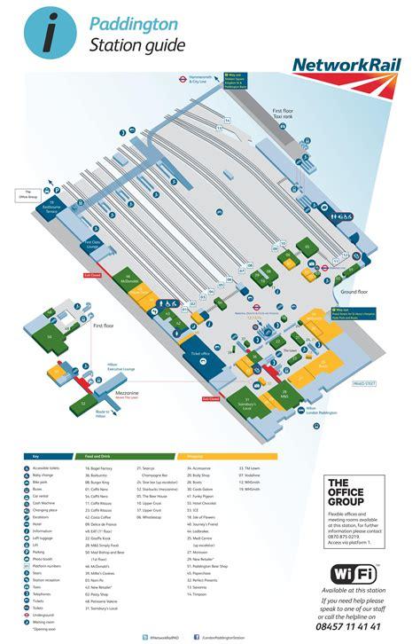 station map paddington station map my