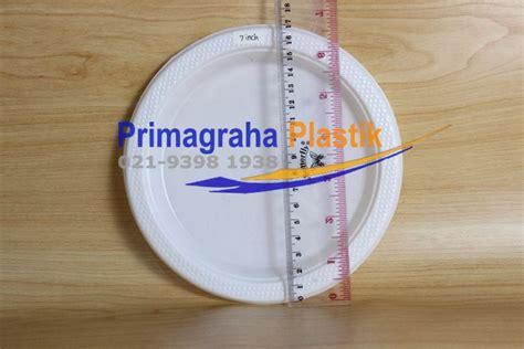 Kuas Kue Plastik 1 Inch piring plastik datar 6 inch 7 inch 9 inch untuk slice