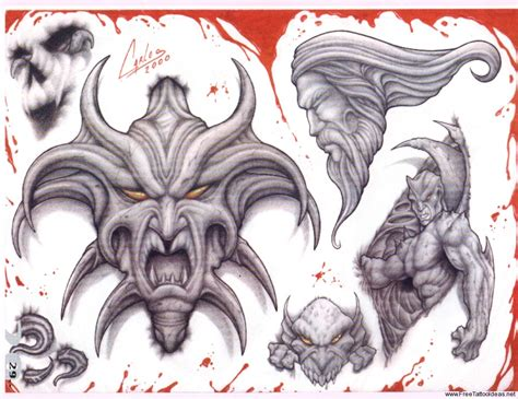 demonic tattoo designs tattoos