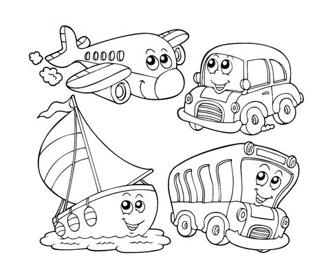 transportation coloring pages jacb me