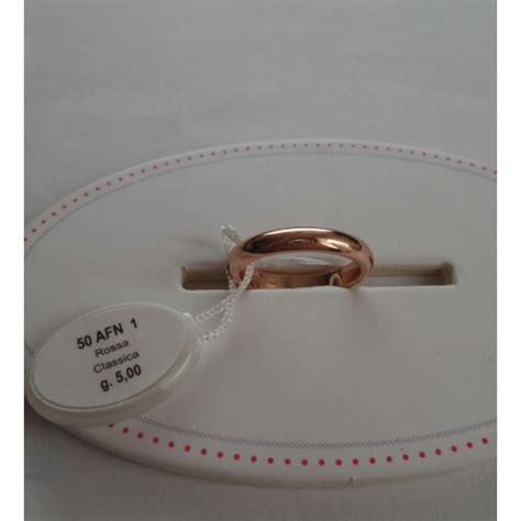 fede mantovana unoaerre fede classica unoaerre in oro rosa 5 grammi anello vera