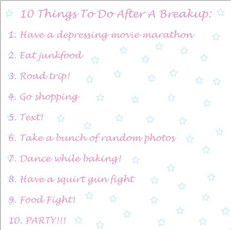 8 Worst Things To Do After A Breakup by 10 Things To Do After A Breakup By Ccquinn17 On Deviantart