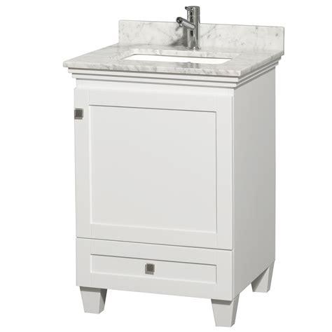 single bathroom vanity white 24 quot acclaim single bath vanity white bathgems com