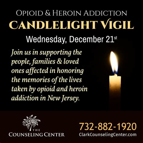 Methadone Detox Nj by 2016 Opioid And Heroin Addiction Candlelight Vigil The