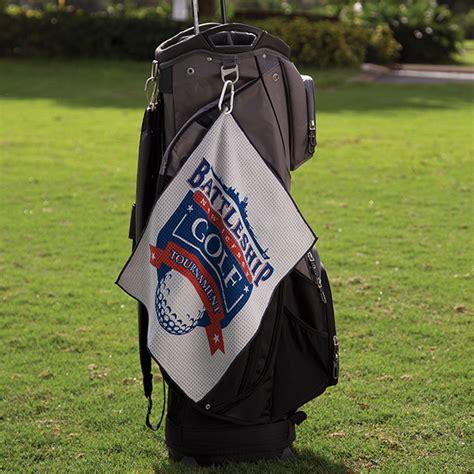 Microfiber Golf Towel Mipacko 40x50 Brown microfiber waffle small golf towel with logo 4allpromos