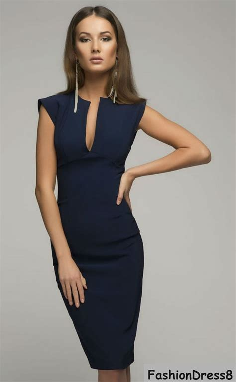 beckham blue dresselegant pencil dress