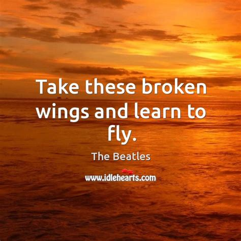 take these broken wings and learn to fly tattoo broken wings quotes on idlehearts