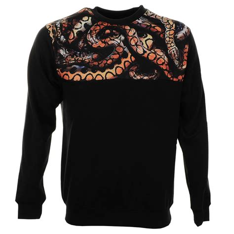 crooks and castles python jumper in black for lyst