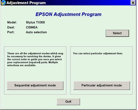 reset tx300f printer epson tx300f bx300f service adjustment program new