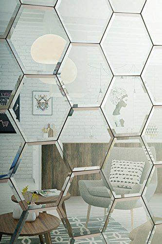 muebles de pared para ba o my furniture azulejos hexagonales de espejo plateado
