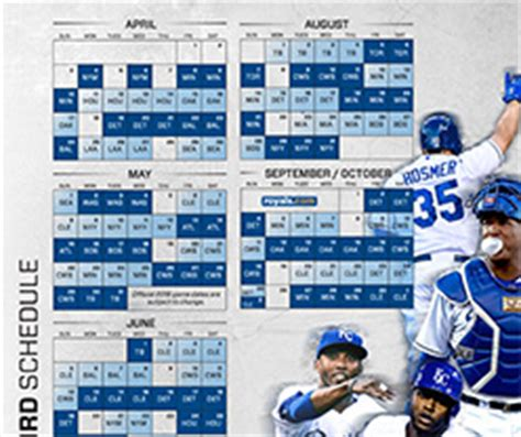 printable kansas city royals baseball schedule 2018 2016 printable schedule kansas city royals