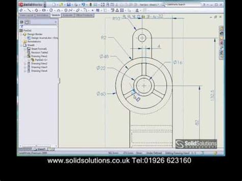 2d sketch software solidworks 2d drawing creation demonstration