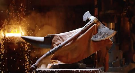 jaffe says god of war movie still real quot looking strong kratos axe from god of war has been rebuilt and looks