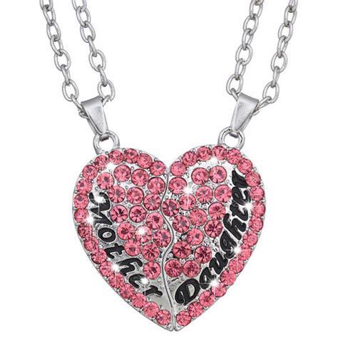 Kalung Pasangan Bentuk Hati Ibu Dan Anak Necklace Pink 1 kalung pasangan bentuk hati ibu dan anak necklace pink jakartanotebook