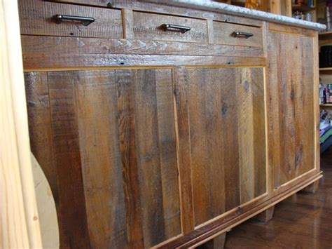reclaimed barnwood kitchen cabinets contemporary
