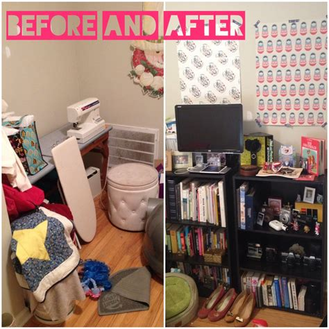 cyborgs craft room before and after craft room bedroom makeover