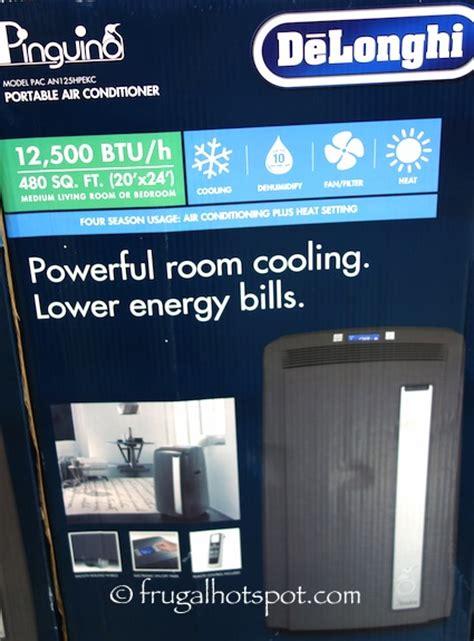 costco room air conditioner costco sale delonghi pac an125hpekc 12 500 btu portable air conditioner 349 99 frugal hotspot