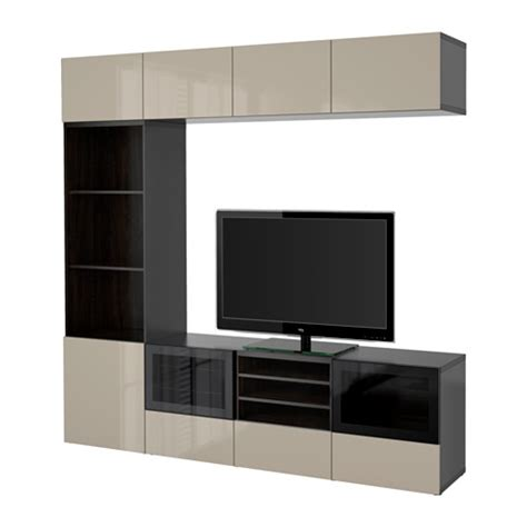 besta ikea canada best 197 tv storage combination glass doors black brown