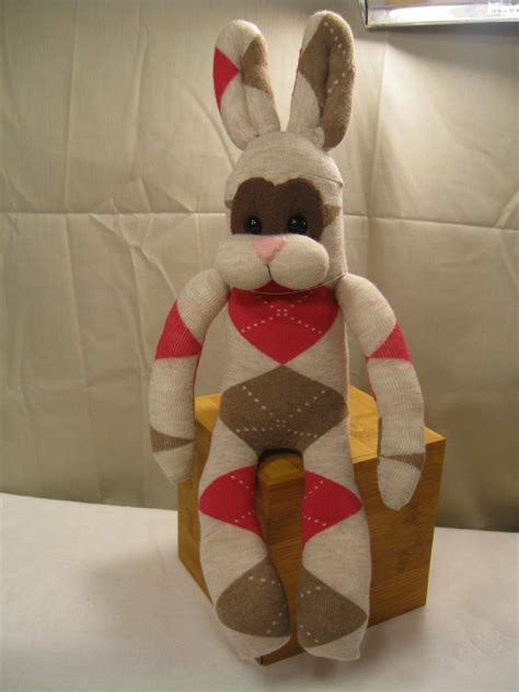 sock bunny krpene lutke bunnies brown and