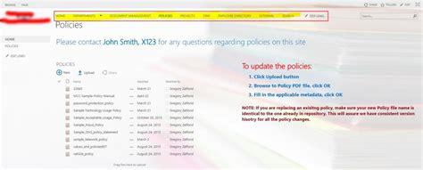 top menu bar microsoft sharepoint development services 3 best design