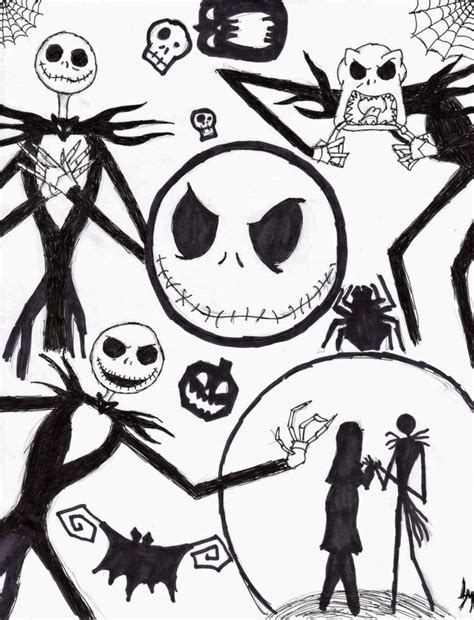 Nightmare Before Christmas Coloring Pages Nightmare Tim Burton S Nightmare Before Coloring Pages
