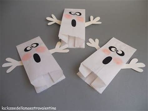 Paper Bag Ghost Craft - paper bag ghost puppets paper bag crafts