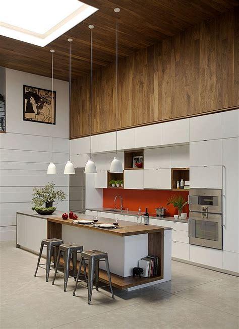 long kitchen island cuisina pinterest smart renovated family loft in boston by zeroenergy design
