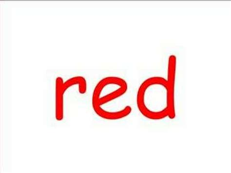 red is the color of the day children s song red colors red colors for kids youtube