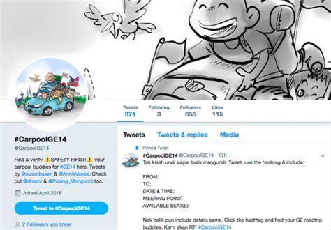 membuat hashtag twitter rakyat malaysia bersatu di twitter menggunakan hashtag