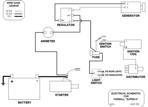 farmall h wiring diagram wiring diagram and schematic