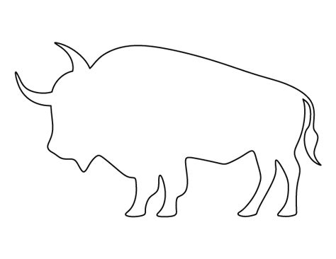 pattern universe pig printable buffalo template