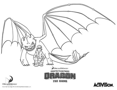 Hiccup And Night Fury How To Train Your Dragon Coloring Fury Coloring Page