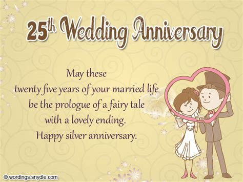 25th wedding anniversary card verses 25th anniversary wishes for friend wishes greetings pictures wish