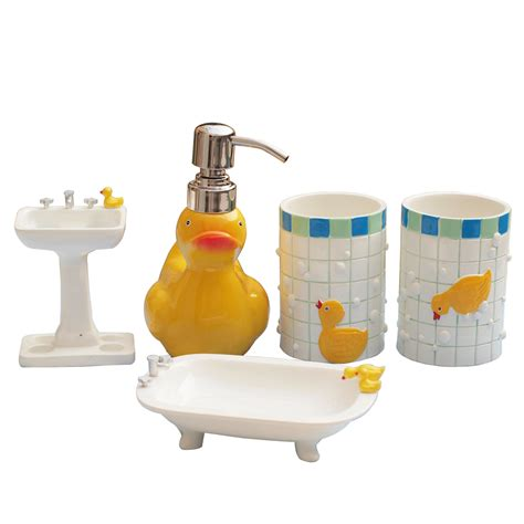 Cartoon Duck Wash Set Resin Bathroom Decoration Tooth Duck Bathroom Accessories