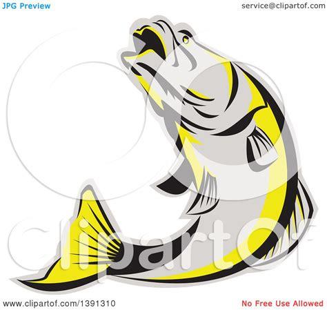 barramundi tattoo designs clipart of a retro gray black and yellow barramundi asian