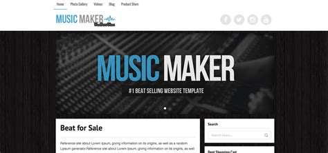 theme music maker header music maker wordpress theme help